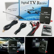 Car HD/SD Mobile TV Tuner Digital TV Receiver Box D4 Video 2 Audio Output For US