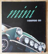 MINI COOPER 35 orig 1996 UK Mkt Sales Brochure - 5083