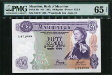 Mauritius 1967, 50 Rupees, 871099, P33c,PMG 65 EPQ GEM UNC