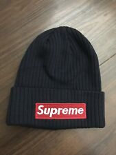 Supreme x New Era Winter Beanie NAVY BLUE