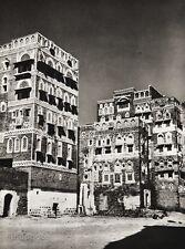 1934 Vintage Print ~ YEMEN ~ Sanaa Houses Architecture Landscape Photo Art 11x14