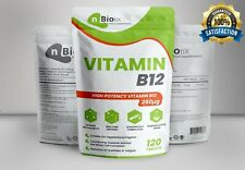 Vitamin B12 250mcg 120 Tablets, Immune Strength & Fatigue, UK Manufactured