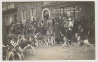 Oxfordshire postcard - The Heythrop Meet at Chipping Norton, Jan 1932 - RP (A32)