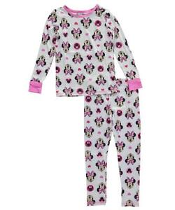 Cuddl Duds Toddler Girls Size 5T 2 Piece White/Pink Minnie Mouse Polka Dot Top