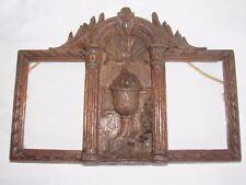11D1 ANCIEN DOUBLE CADRE PHOTO EN BOIS SCULPTE CALICE ET RUBANS STYLE LOUIS XVI