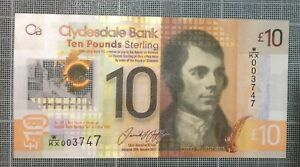 W/KX003747 - NEW £10 💷 STERLING CLYDESDALE BANK 🏦 🏴