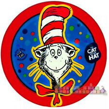 CAT IN THE HAT LARGE PAPER PLATES (8) ~ Birthday Party Supplies Dr. Seuss Blue