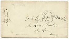 CSA POW Cover Libby Prison South-to-North Old Point Comfort, VA Due 3 Handstamp