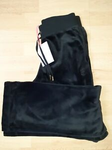 Juicy Couture black velour bottoms medium bnwt flared pockets del ray