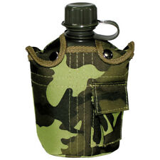 Military Water Bottle Army Canteen Travel Camping Bushcraft Cover Czech Woodland