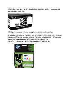 HP 951XL Color Ink Cartridges - Cyan/Magenta/Yellow & Black 950XL cartridge