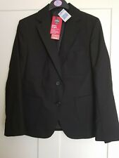 M/&S Girls Black Regular Fit School Blazer *Aged 12 Years* BNWT RRP £26.00