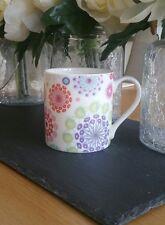Bone China Geometric Circle Mug Chintz Hand Decorated In Wales Gift Idea