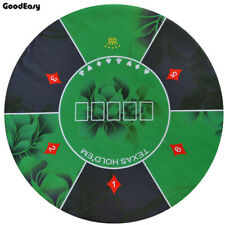Green Texas Holdem Poker Table Cloth Rubber Round Table Mat Flower Casino Board