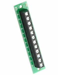 Verteiler für Modellbahn mit Status-LED´s - 12 Klemmen  > *NEU/OVP*