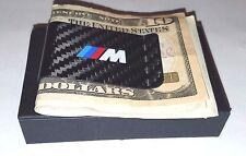 Carbon Fiber Money Clip BMW M Style Logo NEW ITEM !