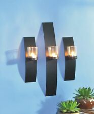 3er Set Wandkerzenhalter Kerzenhalter Teelichthalter Windlicht Teelicht Deko
