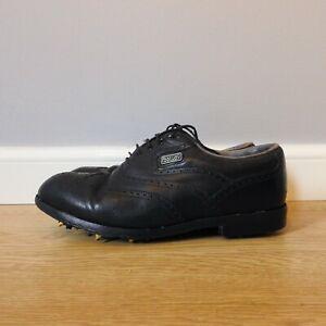 Footjoy DryJoys Black Leather Mens Golf Shoes Size 8 UK Medium Width