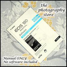 Canon EOS Instruction Book for Solution Disk V5 software for 10D Digital SLR