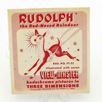 View Master # FT-25 Rudolph the Red-Nosed Reindeer w/ booklet viewmaster