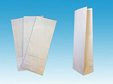 "500 x 3 kilo White Block Bottom Bags. 151 x 404 x 99mm (6"" x 15.9"" x 3.9"")"