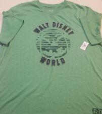$36 NEW NWT AUTHENTIC DISNEY WORLD SEWN CASTLE GREEN V NECK T-SHIRT MEN'S 71