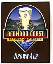 Redwood Coast Brewing BROWN ALE beer label table display advert insert