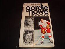 Gordie Howe Hockey Paperback Book by Stan Fischler 1973 Detroit Red Wings VG+