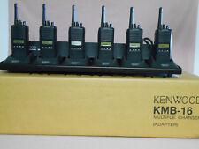 KENWOOD 6 TK 380 UHF RADIOS & CHARGING BANK, CHARGERS, ANTENNAS, AND BELT CLIPS