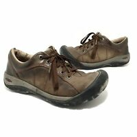 Keen Womens Presidio Walnut Leather Lace Up Casual Hiking Shoes US 7.5 Brown