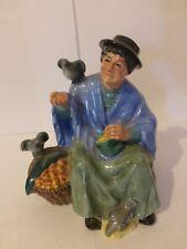 "Rare Vintage Royal Doulton ""Tuppence a Bag"" - Bone China Figurine"