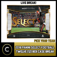 2018 PANINI SELECT FOOTBALL 12 BOX (FULL CASE) BREAK #F133 - PICK YOUR TEAM