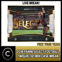2018 PANINI SELECT FOOTBALL 12 BOX (FULL CASE) BREAK #F085 - PICK YOUR TEAM