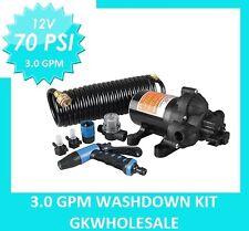New 70 PSI Washdown Spray Pump Kit 2.8 GPM Boat Marine RV Replace Jabsco Shurflo