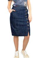 New Casual Knee Length Pencil Blue Jeans Denim Skirt UK 8 10 12 14 16 18 20 22