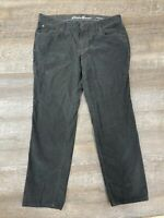 Eddie Bauer Boyfriend Slim Corduroy Jeans Womens Sz 12 Gray
