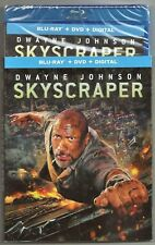 Skyscraper Blu-ray + DVD + Digital Dwayne Johnson Brand New w/ Slip Cover