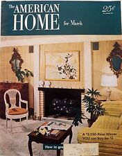American Home Magazine March 1952 Ads Decor Crafts Parties Cooking Garden