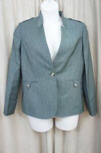 Tahari ASL Suit Jacket Sz 10 Grey Multi Business Dinner Work Suit Blazer