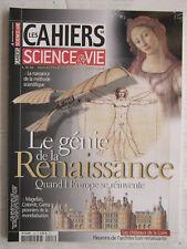 LES CAHIERS de Science&vie N° 128:Renaissance,méthode scientifique,Magellan,Gama