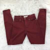 Lucky Brand Women's Size 0/25 Burgundy Brooke Legging Jean
