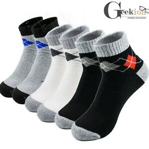 Lots 3-12 Pairs Mens Cotton Sports Ankle Quarter Crew Low Cut Socks 9-11 10-13