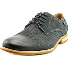 Scarpe classiche da uomo stringhe in camoscio nero