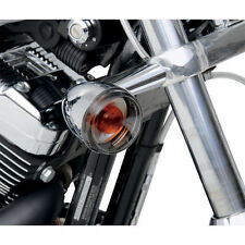 Drag Specialties Bullet Style Smoke Turn Signal Lens Set For Harley-Davidson