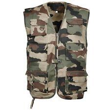 Gilet sans manche bariolé multi-poches reporter taille XXL 2XL camouflage c/e