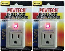 2 new pack single outlet surge protector 270 joules with power suppressor.
