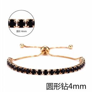Fashion Crystal Zircon Slider Bracelet Adjustable Bangle Women Card Jewelry Gift