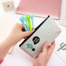 1Pc Cute Cactus Pen Pencil Case Makeup Cosmetic Bag Organizer Pouch Storage Bag