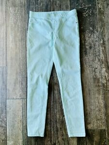 Justice Girls Size 16 Mint Green mid rise Pull-on jeggings soft & stretchy