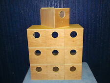 10 Budgie Nest Boxes End Entry Aviary Breeding Bird Nesting Box Inc Concaves